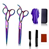 Hair Scissors Set Professional Hairdresser Scissors Kits Shaping Hairdresser Tools for Home Men Women,B