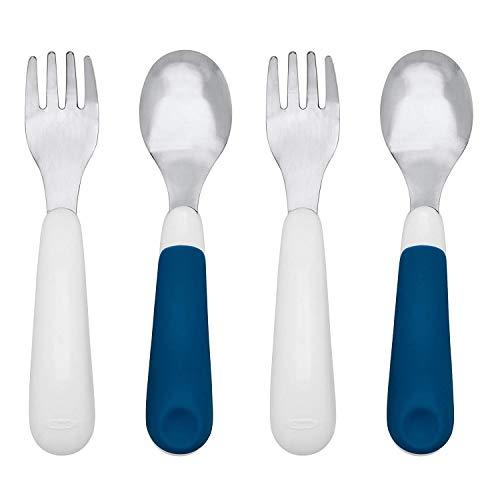OXO Juego de tenedor y cuchara, azul marino, paquete de 2
