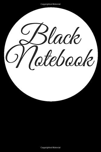 Black notebook: Lined journal , Gift notebook , 120 pages 6x9 , soft cover , Matte finish / book composition magazine. Size: 6 * 9 (inch),