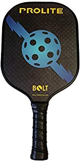Prolite Bolt Pickleball Paddle - Light Weight, Powerful, Textured Surface to Help Put Spin On The Ball - Polypropylene Honeycomb Core - Carbon Fiber Facing - Micro Matte Edge Guard - Tackified Grip