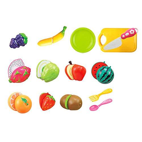 Huachaoxiang Picnic Cesta Juguetes De Madera, Juguetes De Cocina Niños Cocina Accesorios De Cocina Corte Postre De Fruta Papel Play Ejecutiva Juguetes Educativos Regalo,Multi Colored