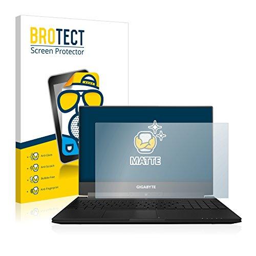 BROTECT Entspiegelungs-Schutzfolie kompatibel mit Gigabyte Aero 15X Bildschirmschutz-Folie Matt, Anti-Reflex, Anti-Fingerprint