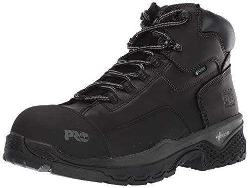 Timberland PRO Men's Bosshog 6 Inch Composite Safety Toe Puncture Resistant Waterproof Industrial Work Boot, Black, 8.5 Wide