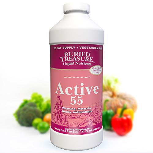 Buried Treasure Active 55 Plus Daily Vitamins Minerals Antioxidants and Herbal Blend for Active Adults 32 oz