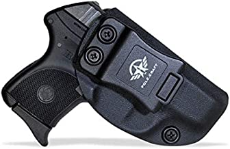 Ruger LCP 380 Holster IWB Kydex Concealed Carry - Inside Waistband Carry Concealed Holster LCP 380 IWB - Kydex Ruger LCP 380 Auto Pistol Case Pocket Pouch Accessories (Black, Right Hand Draw)