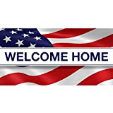 BANNER BUZZ MAKE IT VISIBLE Welcome Home US Army Banner 11 Oz Vinyl PVC Flex Banners with Hemmed Edges & Metal Grommets Free (6' X 3') -  BannerBuzz