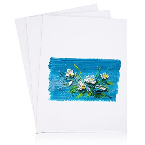Viesap Paneles De Lienzo, 3PCS Paneles De Lienzo Para Pintar Cuadros, Blanco...