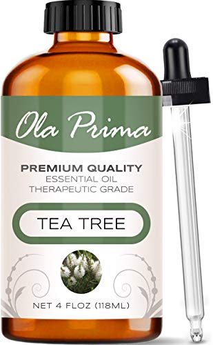 Ola Prima 4oz - Premium Quality Tea Tree Essential Oil (4 Ounce Bottle) Therapeutic Grade Tea Tree Oil