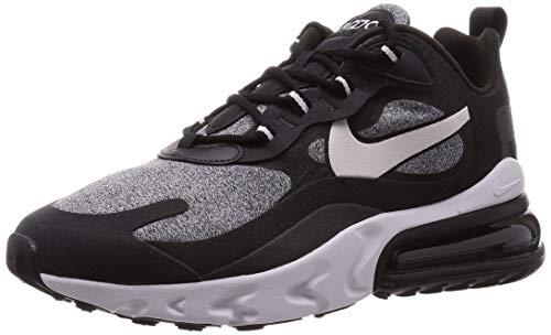 Nike Scarpe da Uomo Sneaker Air Max 270 React in Tessuto Nero AO4971-003
