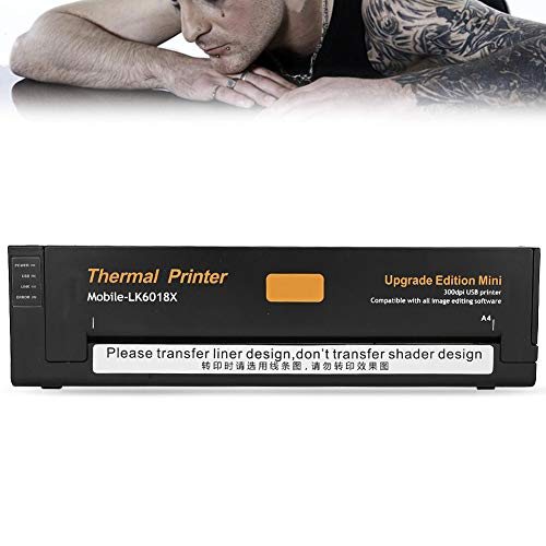 Brrnoo Stampante Termica per Tatuaggi, 2 Tipi di fotocopiatrice trasferibile Carta per Stencil Stampante Termica per Tatuaggi Professionale Portatile per Salone di Bellezza(2#)