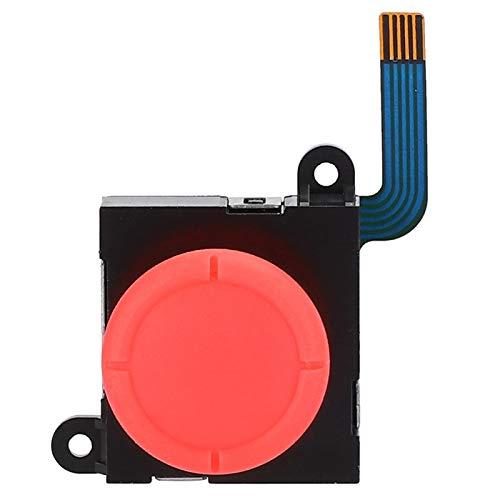 FOLOSAFENAR 1 Pieza de Joystick de Repuesto Joystick Rocker 3D Izquierda y Derecha, con Tapa, para Consola de Juegos de Interruptor, para Accesorio de Consola de Interruptor(Red Hat II)