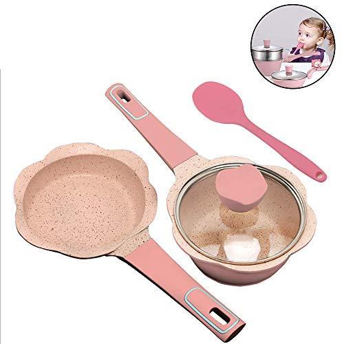 Multifunctionele Non-Stick Babyvoeding Supplement Melk Soeppan Kookpot Koekenpan,Geschikt Voor Elektrische Keramische Kookplaat,Enz,Handig,EfficiëNt,Energiebesparend,Tijdbesparend,Pink