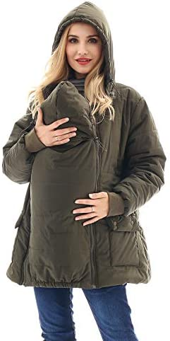 Bearsland Maternity Babywearing Pregnancy Jacket Coat Mother s Down Duffle Coat with Windproof product image
