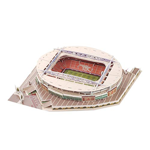 A/B Emirates Stadium 3D Puzzle Model, 3D Puzzle Stadium Building Jigsaw Kit for Kids Adults Gift