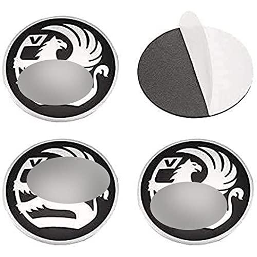 4 Piezas Tapas Centrales Sticker para Opel Astra Mokka Corsa Insignia Meriva Zafira 56mm, Tapacubos de Cromado para ProteccióN Con Prueba Agua Polvo Accesorios Partes