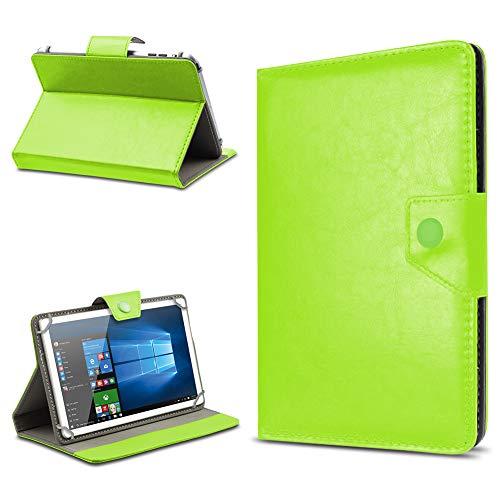 UC-Express Tablet Tasche für TrekStor SurfTab Twin 10.1 Hülle Hülle Schutz Cover Schutzhülle Etui Kunstleder Universal Tablettasche Standfunktion Farbauswahl, Farben:Grün