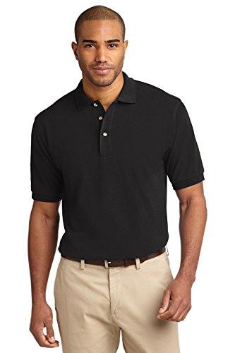Port Authority® Heavyweight Cotton Pique Polo. K420 Black L