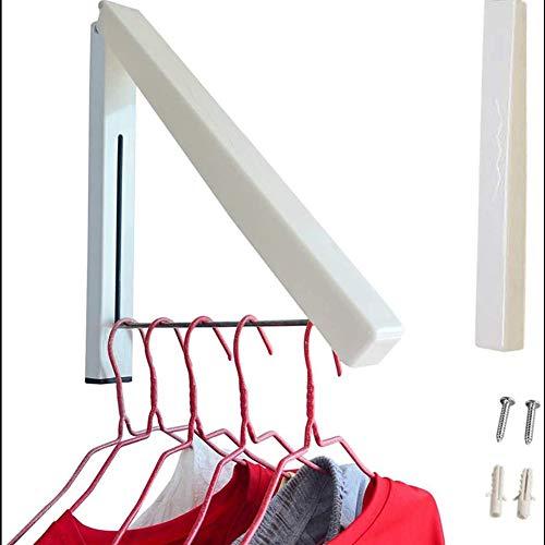 YFOX Kleiderhaken,Faltbare Wandgarderobe,Edelstahl-Wäscheständer,Wandgarderobe,geeignet für Wohnzimmer,Bad,Schlafzimmer,Büro,praktisch platzsparend (Beige)