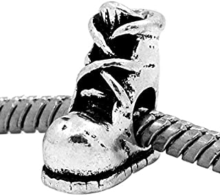 Hiking Boot Hunting Work Shoe Camping Snow 3D Charm for European Bead Bracelets Jewelry Making Supply by Wholesale Charms