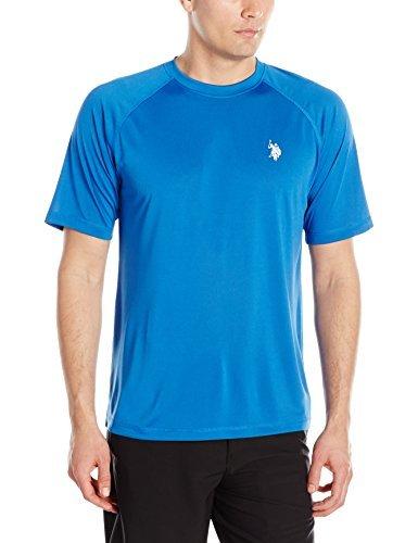 U.S. Polo Assn. Mens Rash Guard UPF 50+ Swim T-Shirt, China Blue, S