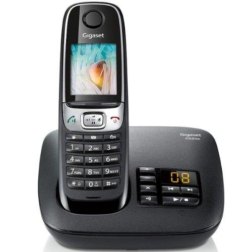 Gigaset C620A BLK Schnurlostelefon mit Anrufbeantworter (DECT)(französischen Stecker)
