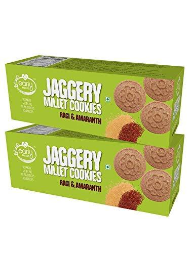 Pack of 2 - Organic Ragi & Amaranth Jaggery Cookies 150g X 2