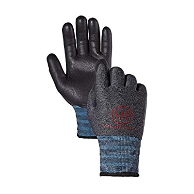 LIO FLEX Extreme Cold Winter Fleece Working Gloves NBR Form Coated 1 Pair S