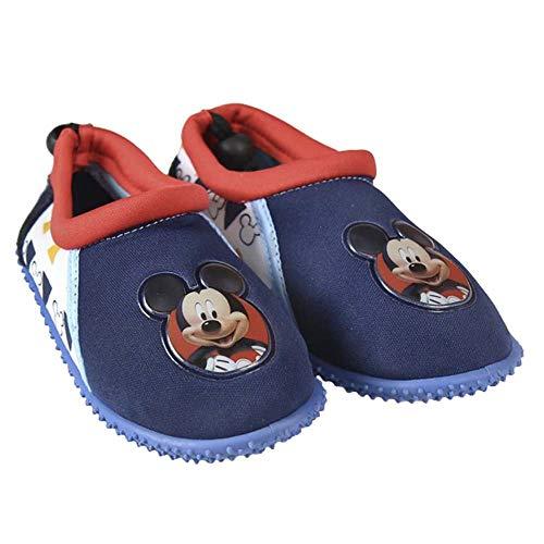 Chaussures Aquatiques Mickey - Protègent Les Pieds des Enfants - Cordon de Serrage Ajustable à l'arrière pour Un Meilleur Maintien (29 EU)