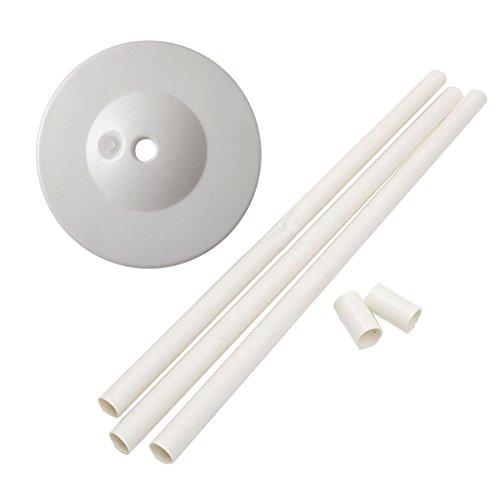 1 Set Support de Ballon Base + Colonne Verticale en Plastique Fourniture de Fête - Blanc