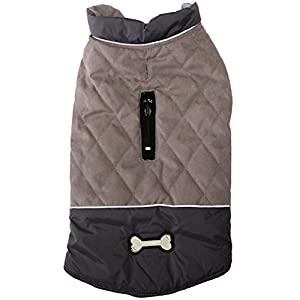 vecomfy Reversible Dog Coats for Small Dogs Waterproof Warm Cotton Puppy Jacket for Cold Winter,Red
