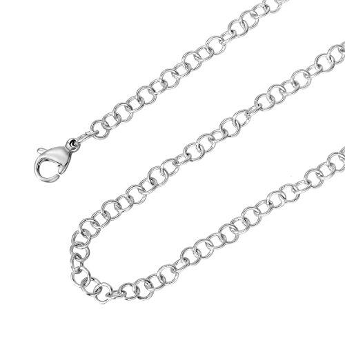 HooAMI 3.5MM zilver vergulde roestvrijstalen kruis kreeft gesp Link ketting kettingen voor mannen Womens 20 inch