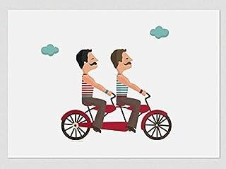 Tandem di amore con baffi. (Stampe A4 / A3)