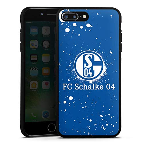 DeinDesign Silikon Hülle kompatibel mit Apple iPhone 8 Plus Case schwarz Handyhülle FC Schalke 04 S04 Offizielles Lizenzprodukt