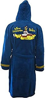 Beatles Men's Yellow Submarine Bath Robe One Size Blue