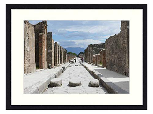 OiArt Wall Art Canvas Prints Wood Framed Paintings Artworks Pictures(20x14 inch) - Pompeii Italy Naples Antiquity Places of Interest 3