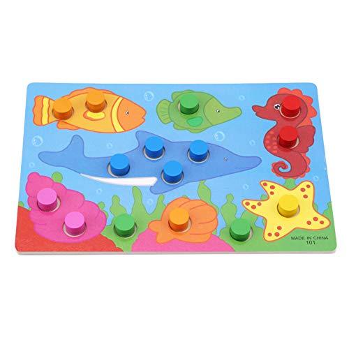 Kaned Rompecabezas de animales de madera de juguete educativo para niños, océano