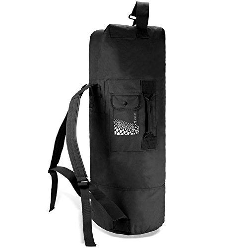 Black Snake US Seesack Duffle Bag Transportsack mit Doppelgurt - Schwarz - 80 Liter