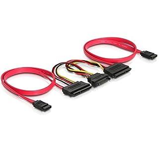 DeLOCK SATA All-in-One Cable for 2X HDD Cable de SATA 0,5 m Rojo - Cable SATA (B001C86LVQ) | Amazon price tracker / tracking, Amazon price history charts, Amazon price watches, Amazon price drop alerts