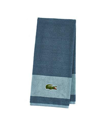 Lacoste Match Towel Handtücher, Baumwolle, Dunkles Türkis, 30x52