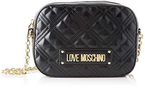 Love Moschino Jc4208pp0a, Borsa a Tracolla Donna, Nero (Black Quilted), 22x16x6 cm (W x H x L)