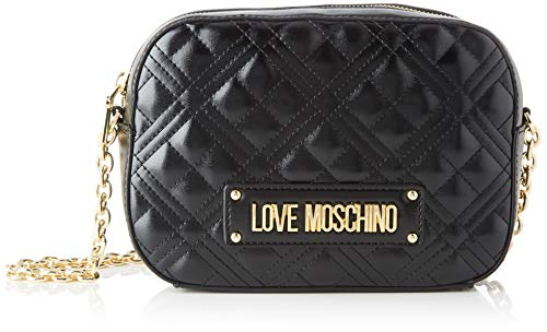 Love Moschino Jc4208pp0a, Borsa a Tracolla Donna, Nero (Black Quilted), 22x16x6 cm (W x H x L)