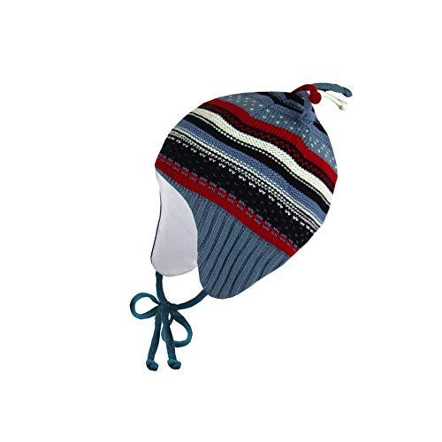 Ergora Baby Mütze Winter Jungen Mädchen Farbe Admiral Gr. 41-43 Wintermütze Kindermütze Zipfelmütze Baumwollfutter