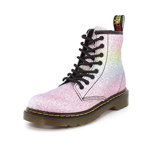Dr. Martens Girls 1460 Rainbow Glitter J Multi Glitter Boot - 3 UK Kids