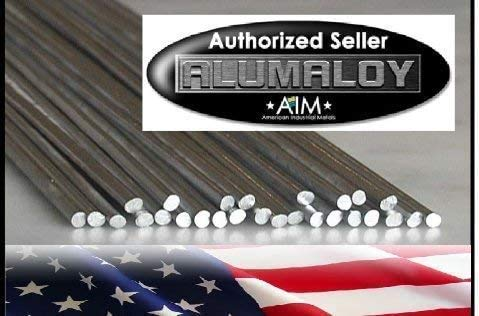 "Alumaloy 20 Rods - USA Made, As Seen on TV, 1/8"" x 18"" Simple Welding Rods, Aluminum Brazing/Welding Rods, Aluminum Repair"