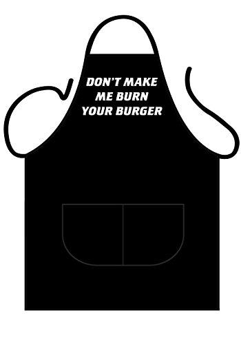 Tannhauser 43-100161 Black Schort Deluxe - Don't make me burn, Unisex Volwassen, One Size