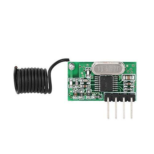 HF radio-ontvangermodule, CJR500 433 MHz HF heterodyne ontvangermodule, DC 5V -107DB Zeer gevoelige ontvangermodule voor afstandsbediening/auto-alarm/roldeur