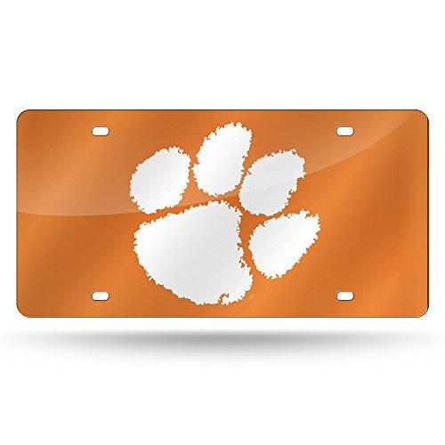 NCAA Rico Industries Laser Inlaid Metal License Plate Tag, Clemson Tigers