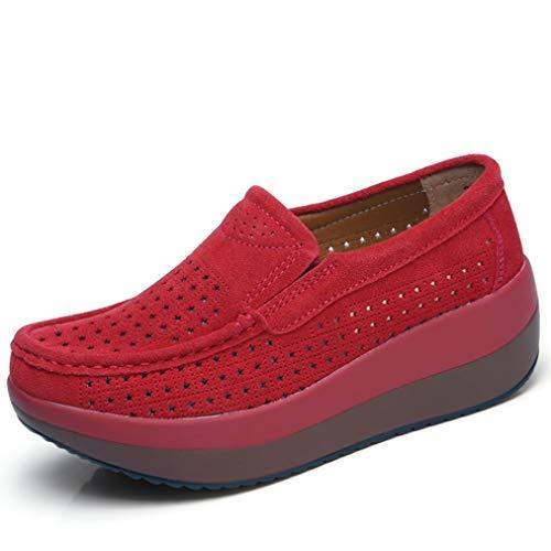 Mocasines De Mujer Mocasines Plataforma De Cuña Zapatos