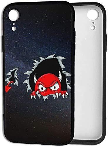 Bernice Winifred Estuche Red Devil para iPhone XR, Estuche para teléfono de Gel de Goma TPU ultradelgado, Delgado y Brillante, Compatible con iPhone XR