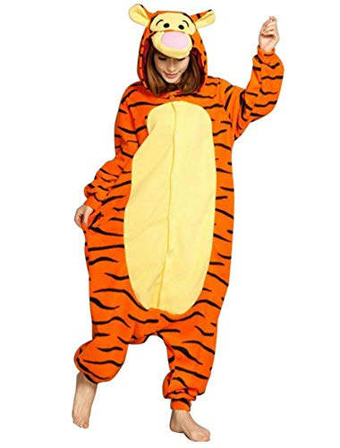 Heißes Unisex-Kostüm für Karneval und Halloween, Cosplay Zoo, Einheitsgröße orange Tiger Small